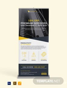 Small Business Roll Up Banner Template