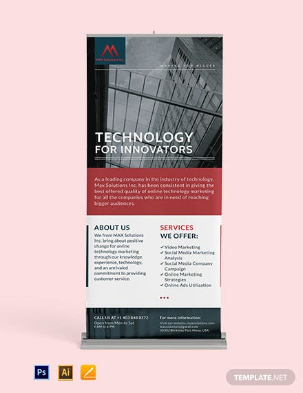 Technology Roll Up Banner Template