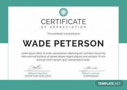 free soccer award certificate template. volleyball certificate ...