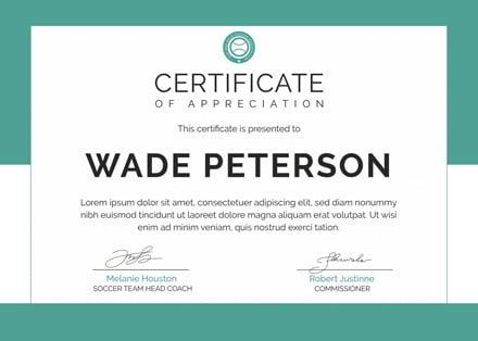 Free Soccer Award Certificate Template: Download 200+ Certificates ...