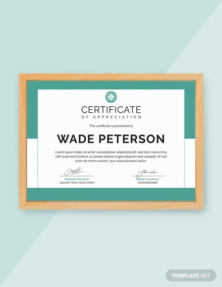 Free Soccer Award Certificate Template