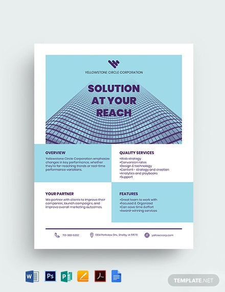 Corporate Datasheet Template [Free PDF] - Google Docs, Word, Apple Pages, PSD, Publisher