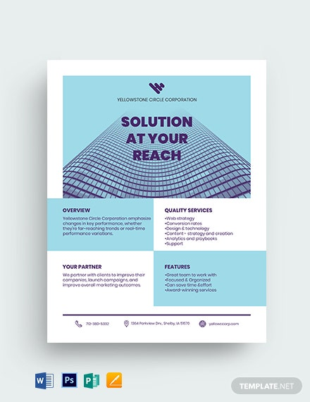 Corporate Datasheet Template