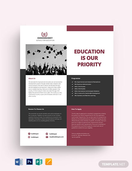 Education Datasheet Template