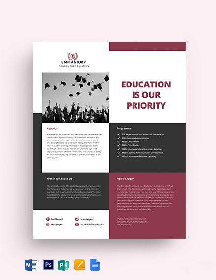 Education Datasheet Template