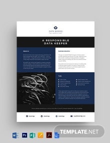 Equipment Datasheet Template