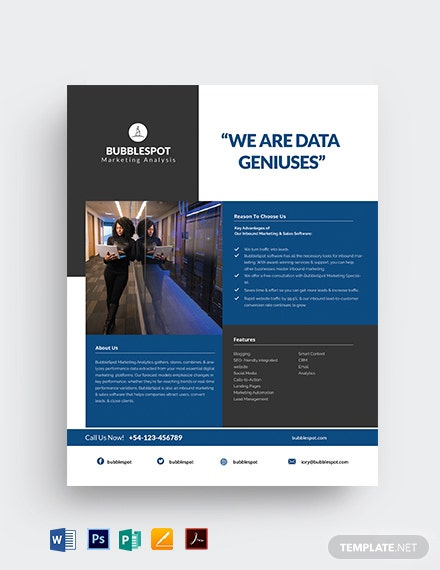 Marketing Data Sheet Template