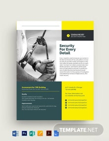 Safety Datasheet Template