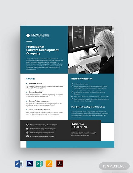 Software Datasheet Template [Free PDF] - Word, Apple Pages, PSD, Publisher