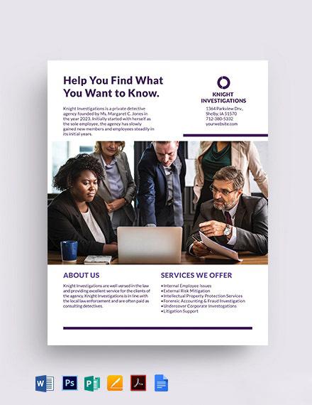 Small Business Datasheet Template