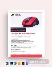 Technology Datasheet Template