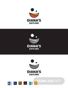 Diana's Daycare Logo Template