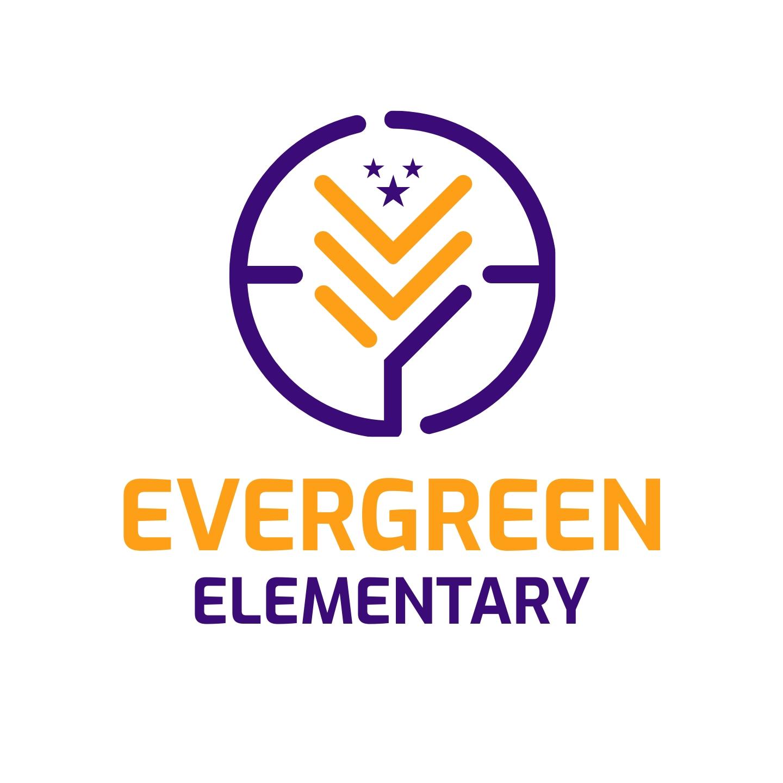 Evergreen Elementary Logo Template
