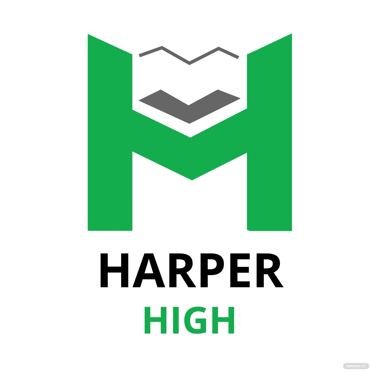 Harper High School Logo Template