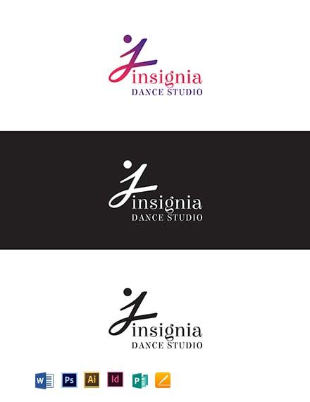 Insignia Dance Studio Logo Template