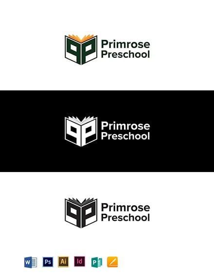 Primrose Preschool Logo Template