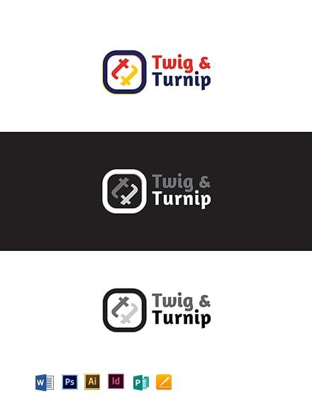 Twig & Turnip Logo Template