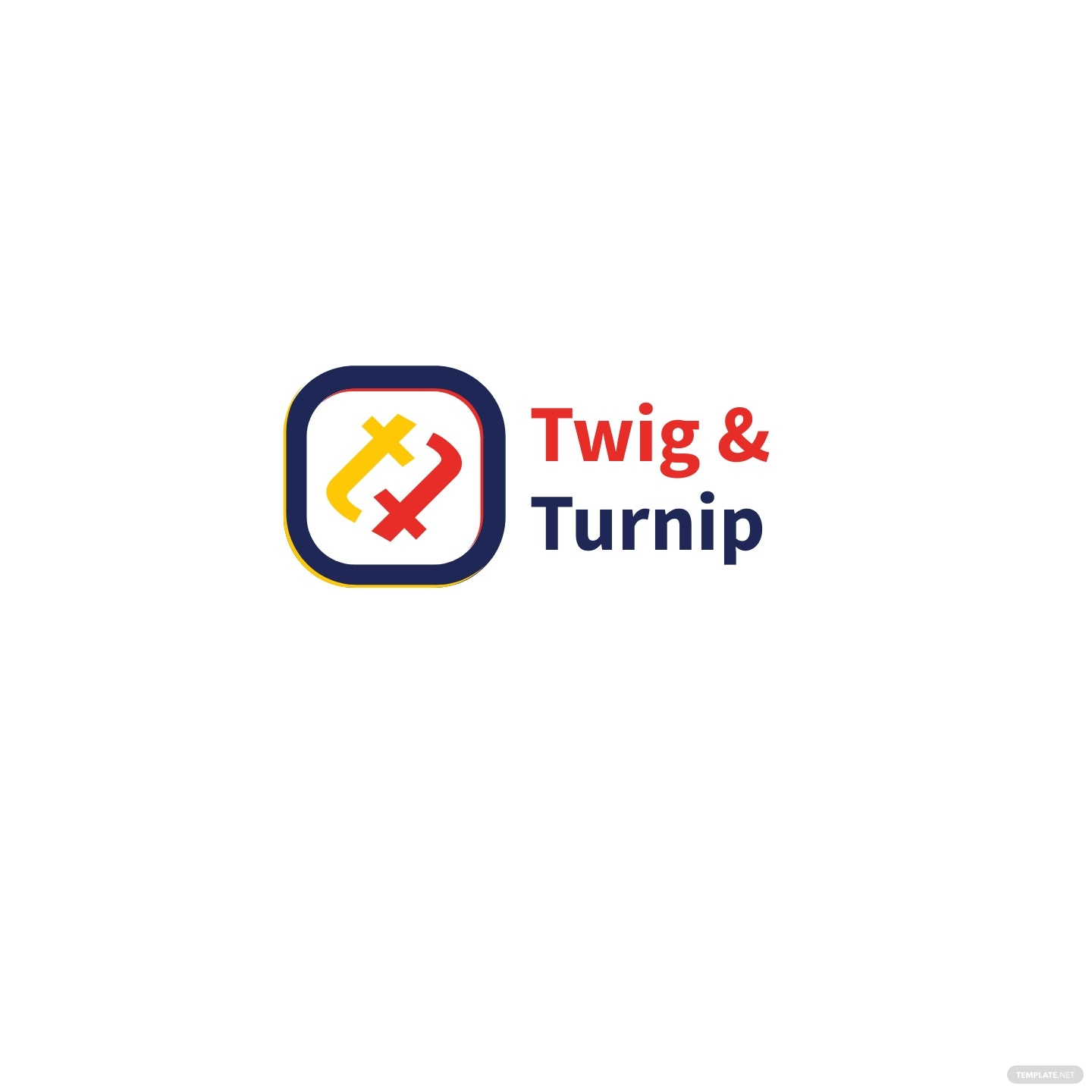 Twig & Turnip Logo Template