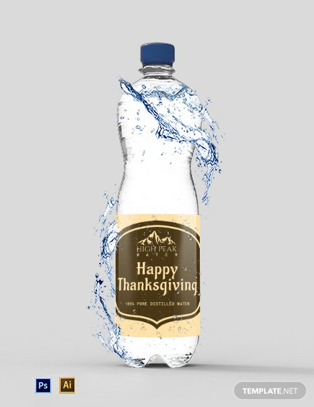 Free Printable Thanksgiving Water Bottle Labels Template