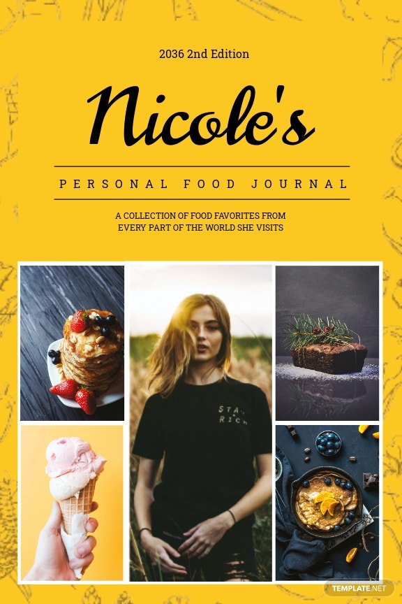 Food Journal Book Cover Template.jpe