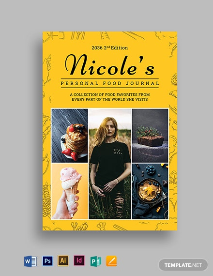 Food Journal Book Cover Template