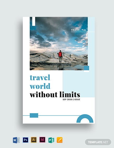 Magazine Book Cover Template
