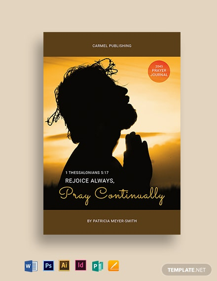Prayer Journal Book Cover Template
