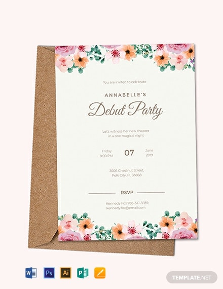 FREE Formal Debut Invitation Template - Word | PSD ...