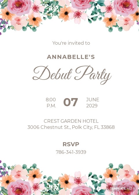 Formal Debut Invitation Template