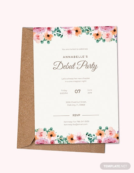 Free Formal Debut Invitation Template Download 537 Invitations In