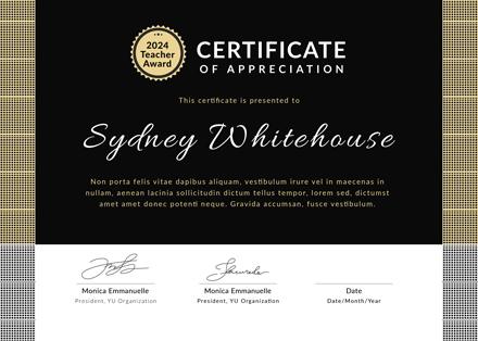 Free Teacher Appreciation Certificate Template Download 200