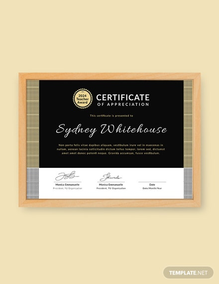 Free Teacher Appreciation Certificate Template