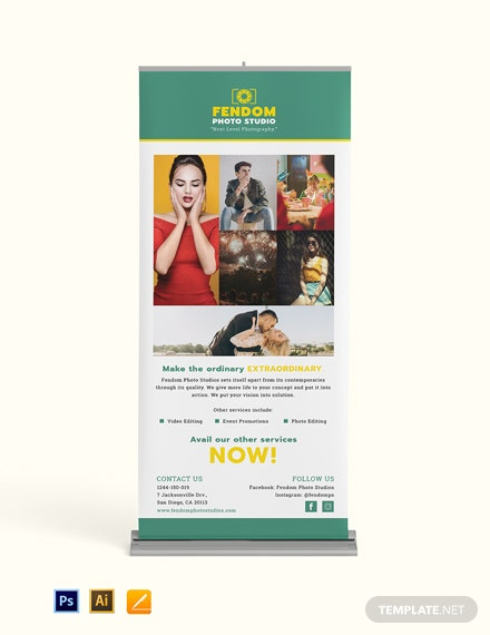 Collage Photography Roll Up Banner Template