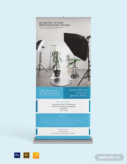 Corporate Photography Roll Up Banner Template