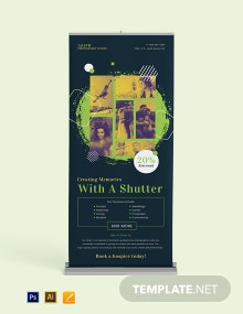 Creative Photography Roll Up Banner Template