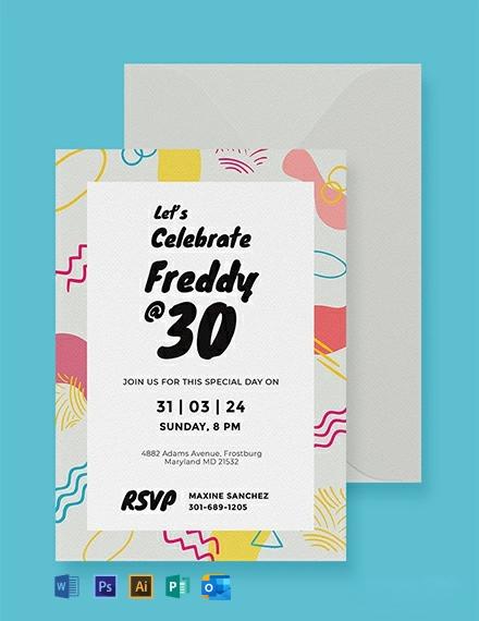Free Birthday Invitation Card Template