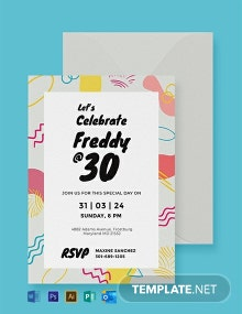 Free Birthday Party Invitation Card Template