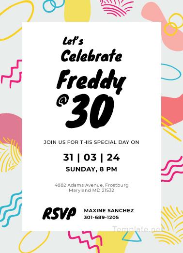 publisher save the date templates - free birthday invitation card template adobe illustrator