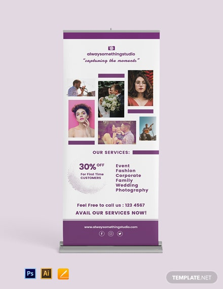 Photography Roll Up Banner Template