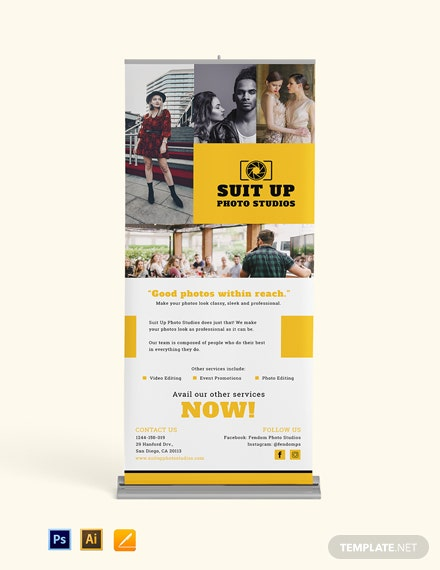 Professional Photography Roll Up Banner Template