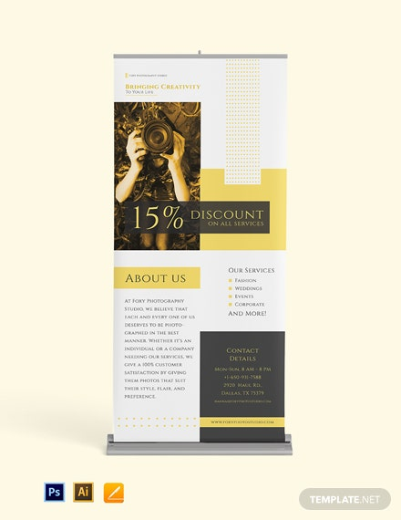 Simple Photography Rollup Banner template