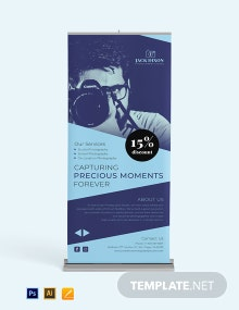 Studio Photography Roll Up Banner Template