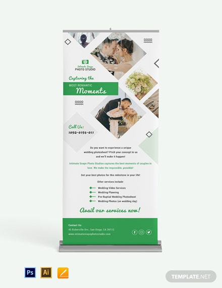 Wedding Photography Rollup Banner template