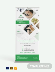 Wedding Photography Roll Up Banner Template