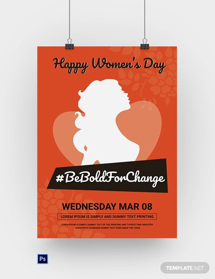 Free Womens Day Poster Template