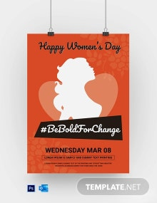 Free Women???s Day Poster Template