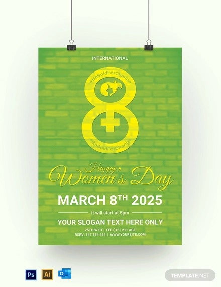 Free Printable Womens Day Poster