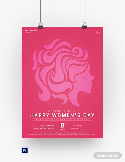 Free Customize Womens Day Poster