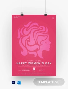 Free Customize Women???s Day Poster