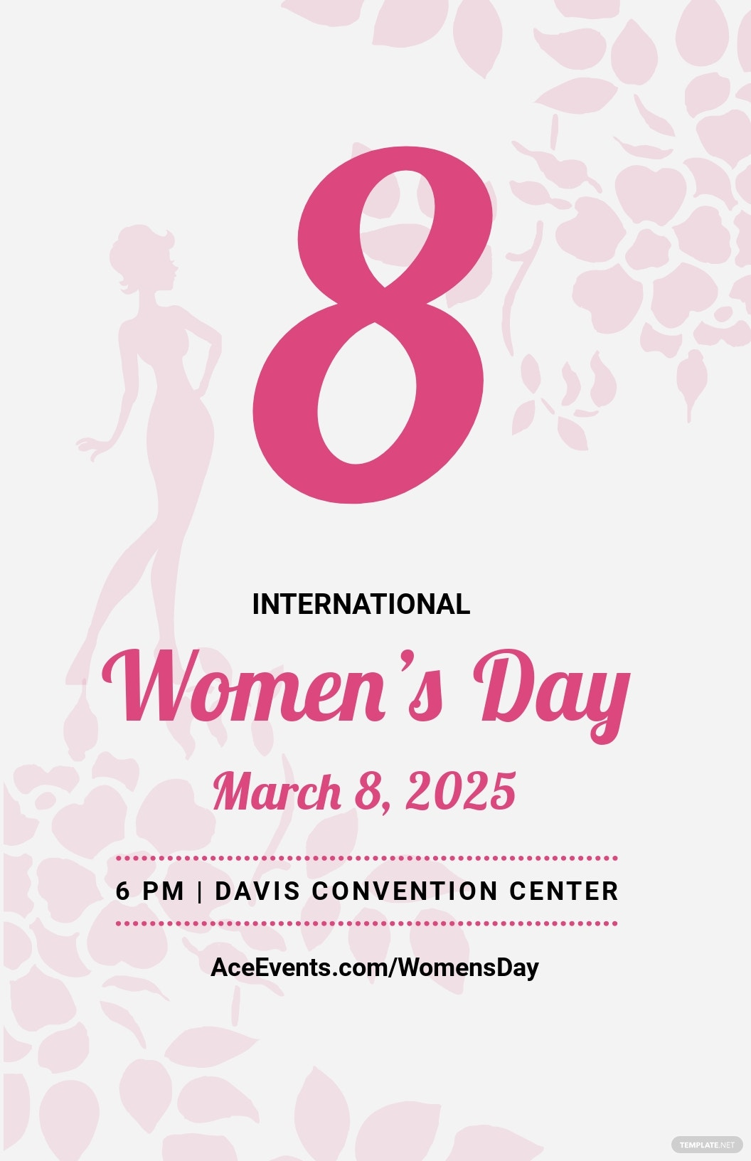 Editable Womens Day Poster Template